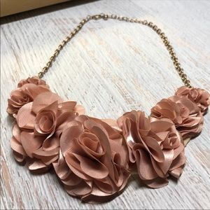 Blush Pink Floral Statement Necklace N514